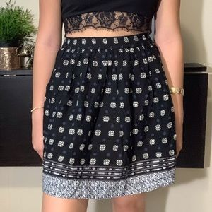 Boho patterned skirt